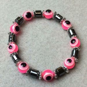 Jewelry - New Pink Eye Ball Stretch Bracelet